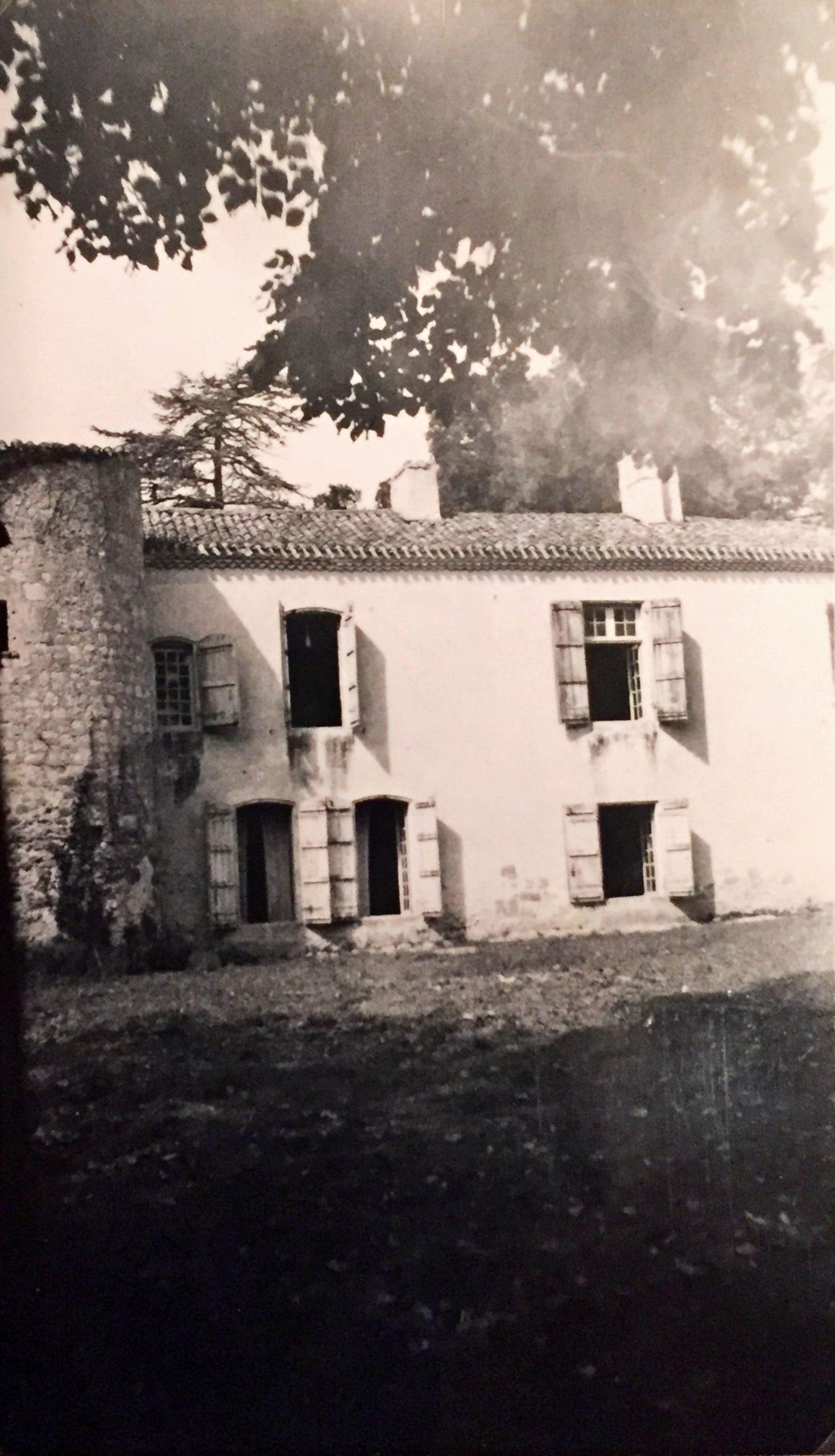 Ancienne photographie du château de Saint-Martin